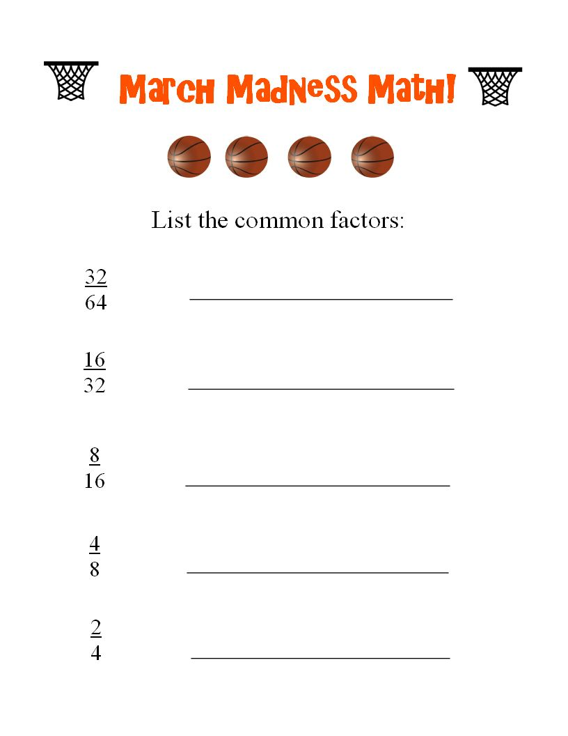 College Basketball Worksheets for Kids - Look! We're Learning!    Kindergarten math worksheets [ 1056 x 816 Pixel ]
