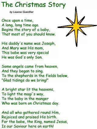 the christmas story holidays pinterest sunday school churches and poem - Christian Christmas Stories