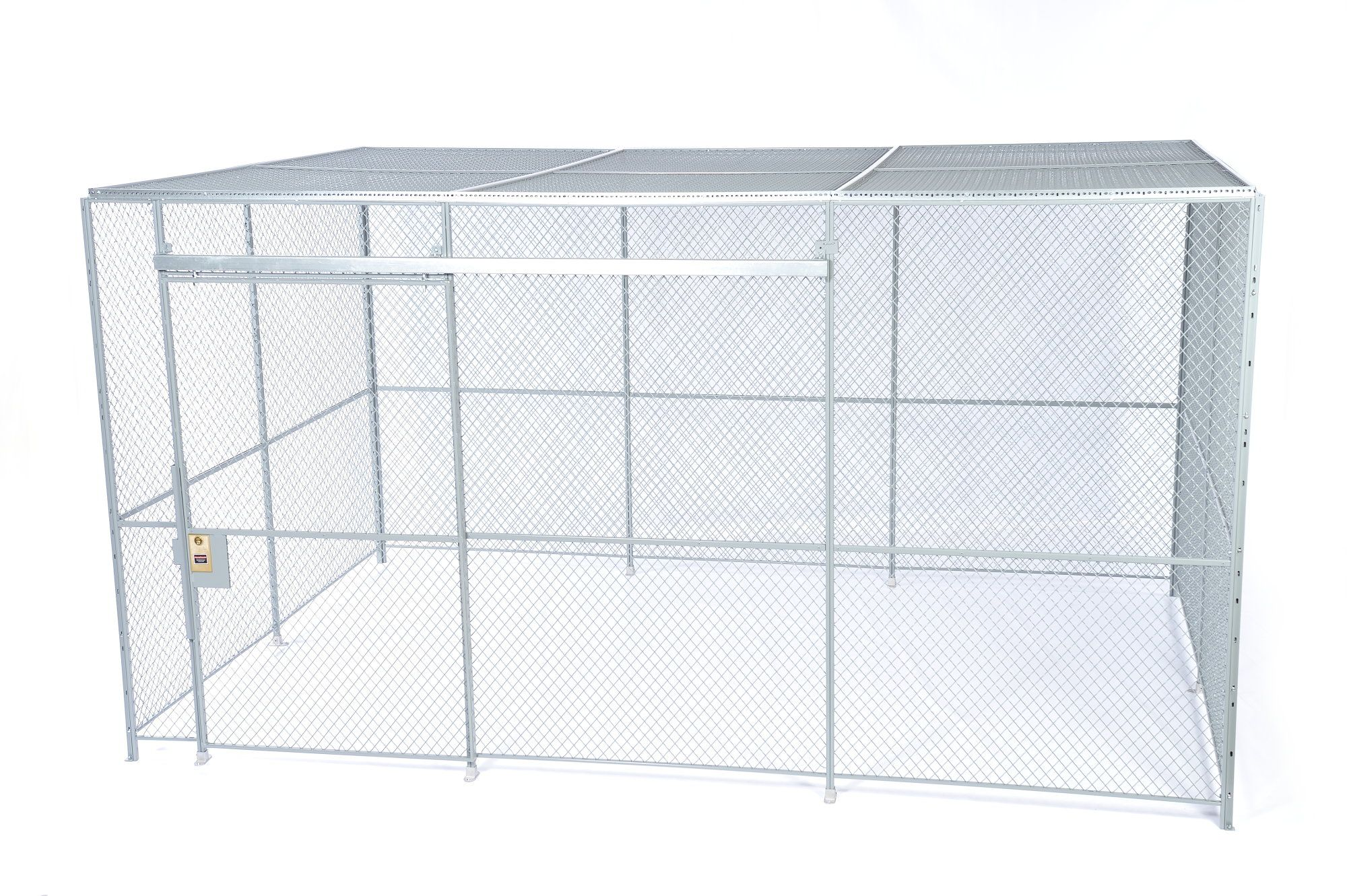 4-sided wire mesh enclosure with a standard sliding door. Cage ...