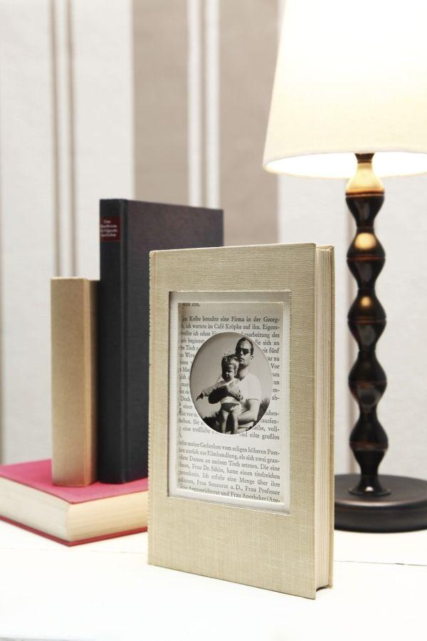 Buch, Bilderrahmen, Upcycling, DIY   Schöner Leben ganz einfach ...