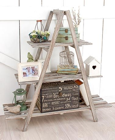 3 Tier A Frame Wood Shelving Decor Diy Wood Shelves Diy Decor