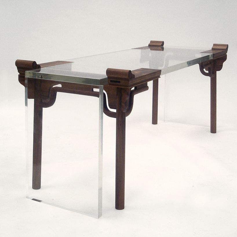 Shao Fan Contemporary Chinese Furniture Work No 4 Of Year 2005 Acrylic Catalpa Image Courtesy