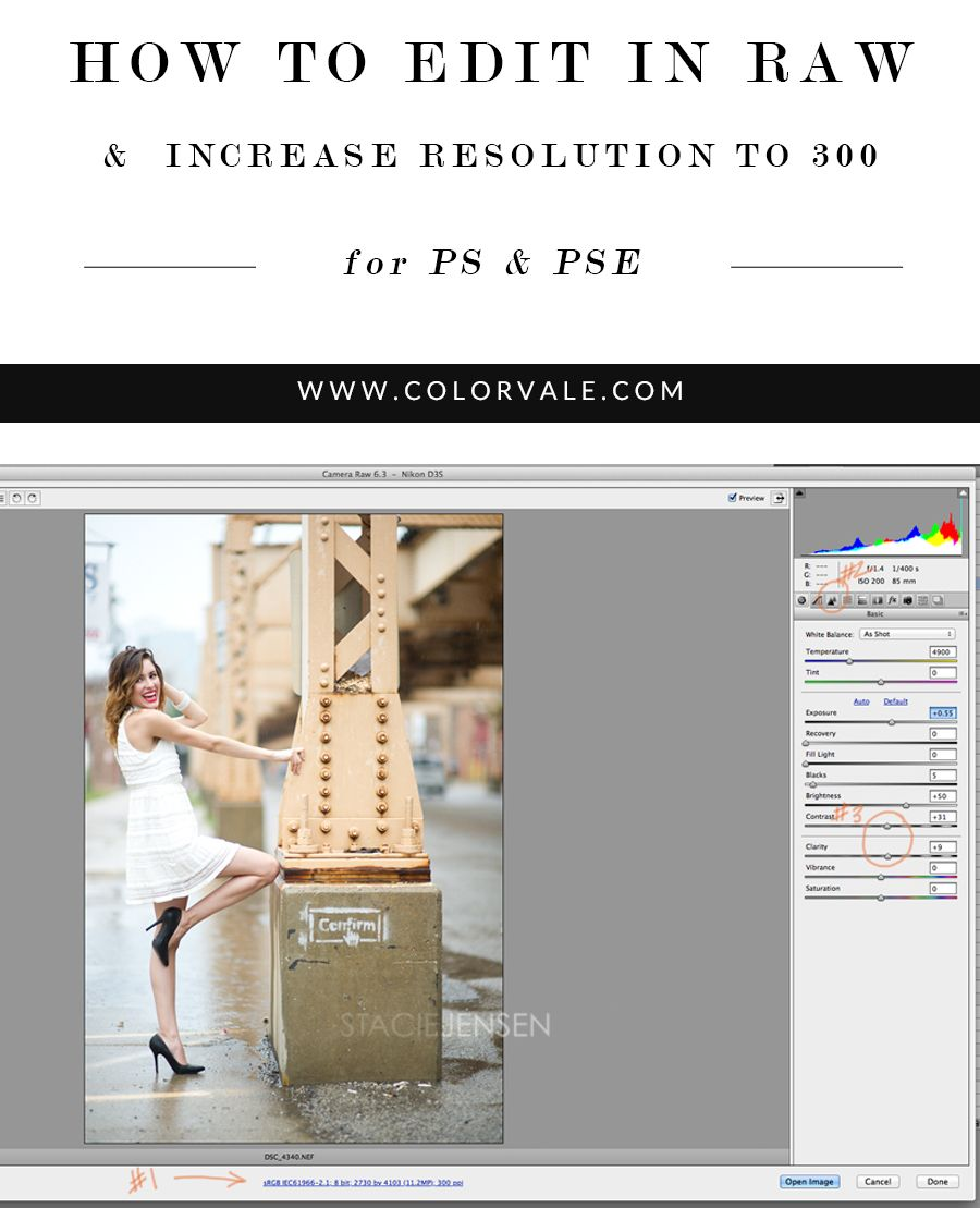 How To Edit Images In Raw Increase Resolution To 300 With Images Photoshop Photography Photo Editing Photoshop Photography Editing