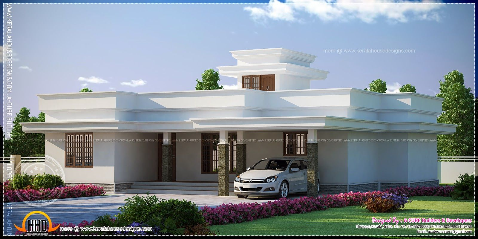 Beautiful low budget kerala house design at 1772 sq