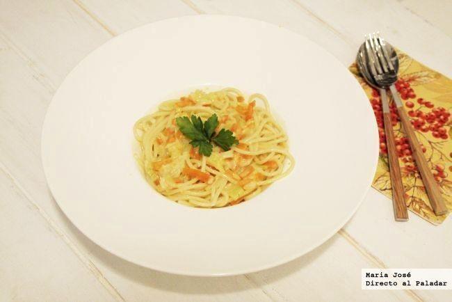 carbonara con vegetales receta con thermomix cocina. Black Bedroom Furniture Sets. Home Design Ideas