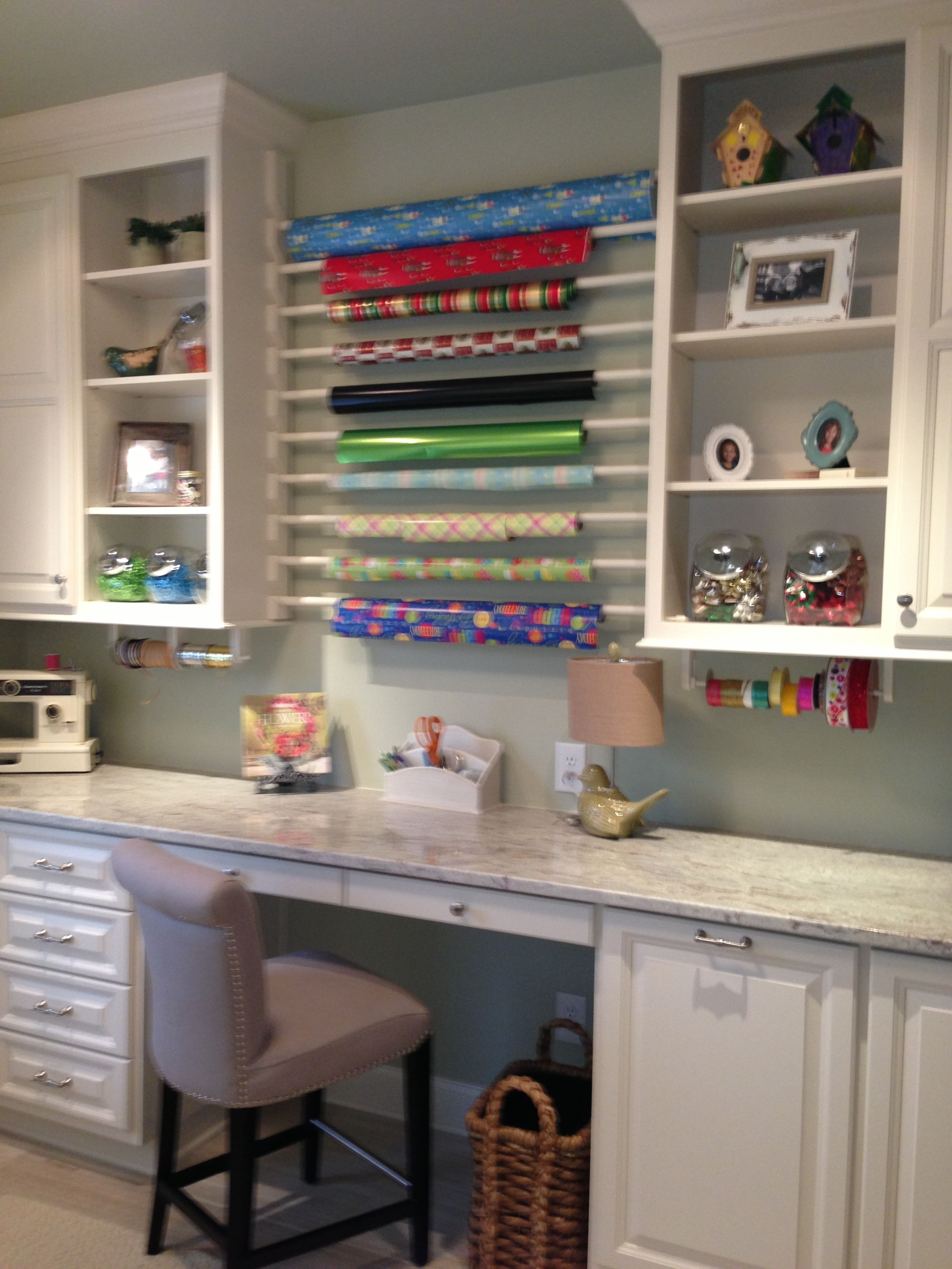 Idea For Gift Wrap Station In New Laundry Room Laundry
