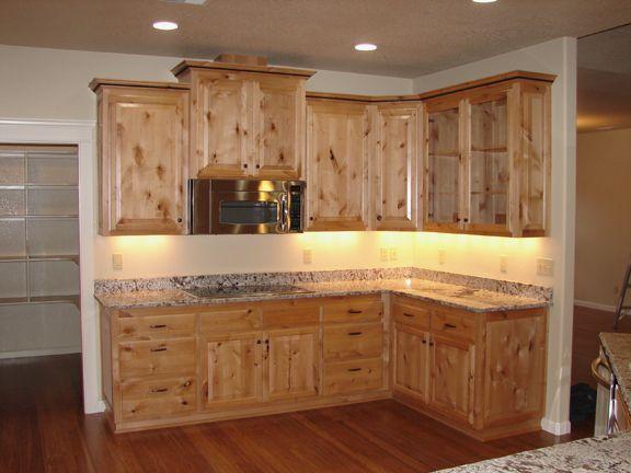 Knotty Alder Cabinets Kitchen Ideas
