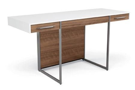 Abt Has Special Shipping On The BDI Format 6301 Natural Walnut And Satin  White Desk   Buy From An Authorized Retailer For Free Technical Support.