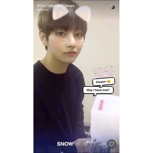 : 161206 SNOW App: BTS in Tokyo Self Camera (V cut)  — #bangtanboys #bts #army #bangtan #kimtaehyung #taehyung #v #뷔 #방탄소년단 #태형 #김태형