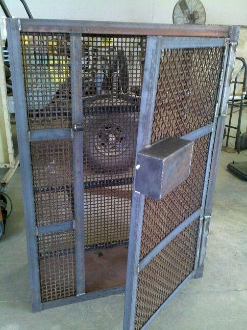 My Gun Cage My Stuff Garage Shop Welding Projects