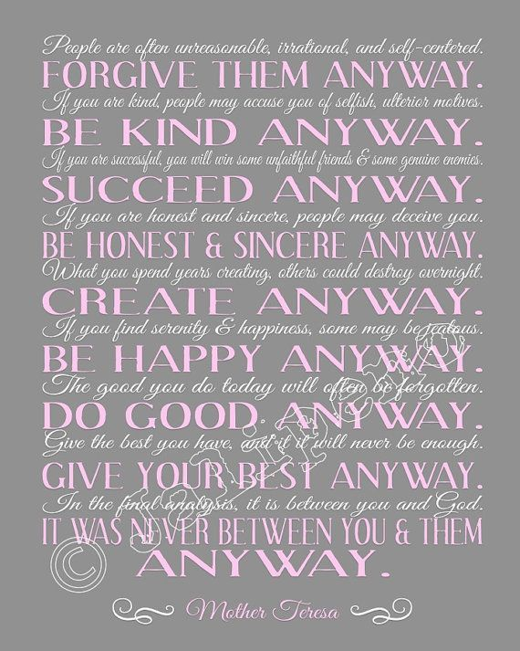 Mother Teresa Quotes Love Anyway Alluring Mother Teresa  Yahoo Image Search Results  Quotes  Pinterest