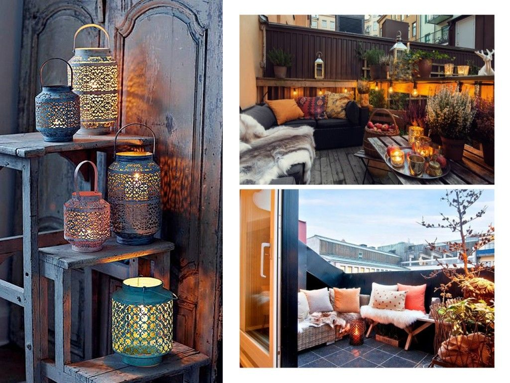 decorar terrazas con encanto en invierno tambin