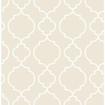 A Street 56 Sq Ft Desiree Taupe Quatrefoil Wallpaper 2657 22260 The Home Depot Quatrefoil Wallpaper Trellis Wallpaper Brewster Wallcovering