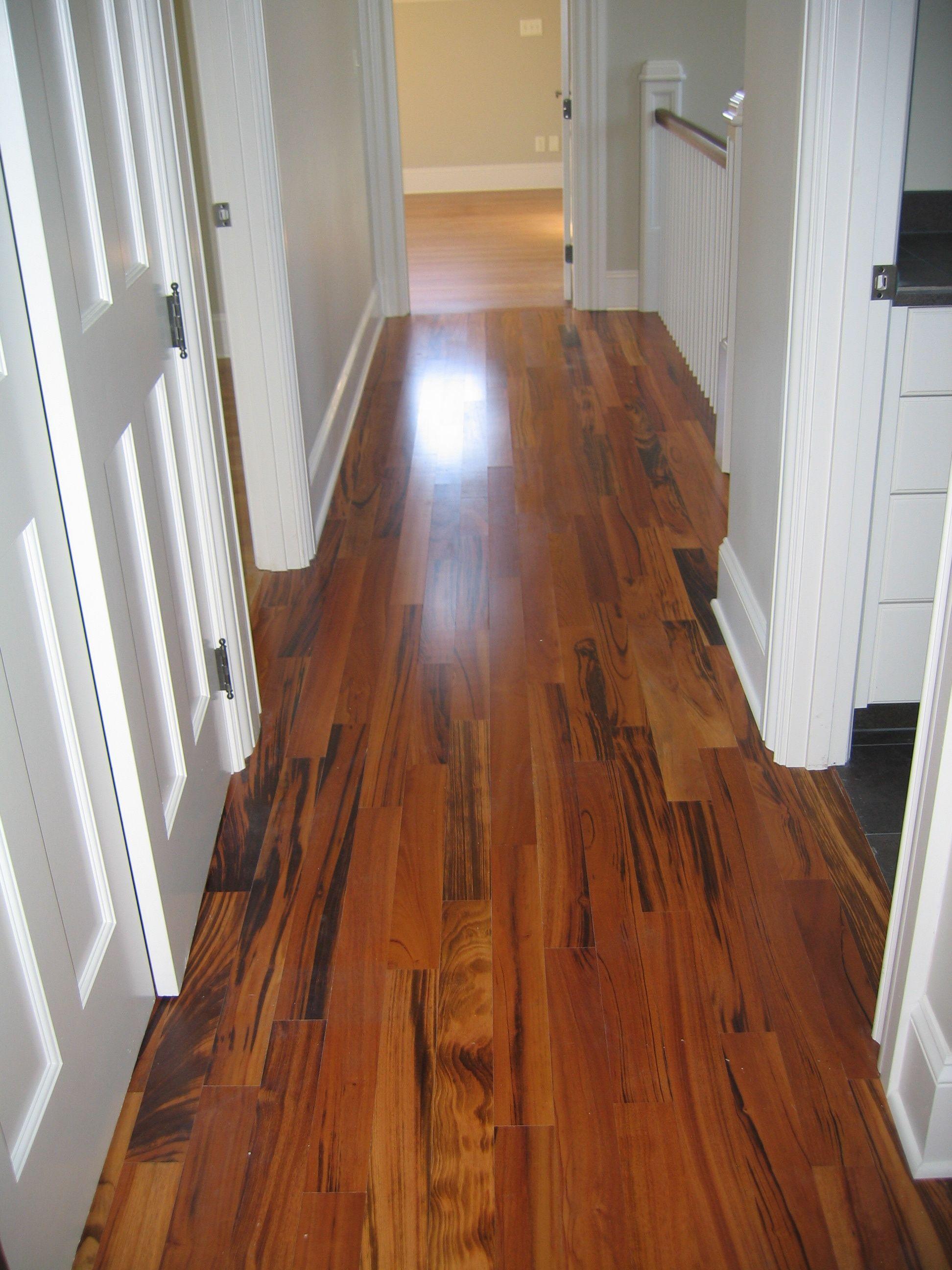 Natural Light Shining On Newly Installed Tigerwood Flooring
