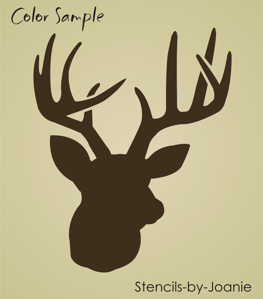 Rustic Animal STENCIL Deer Head Buck Antler Rack Hunt Lodge Art ...