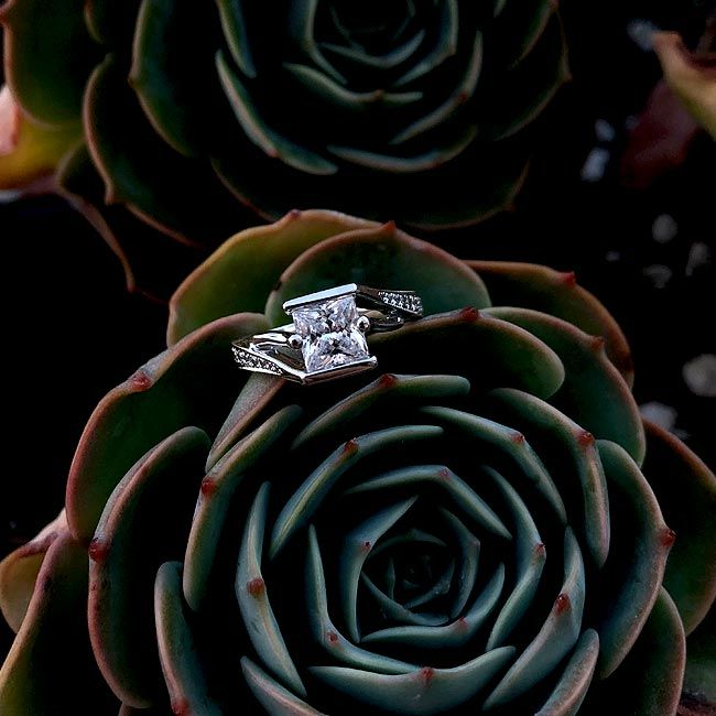Pin On Princess Cut Engagement Rings
