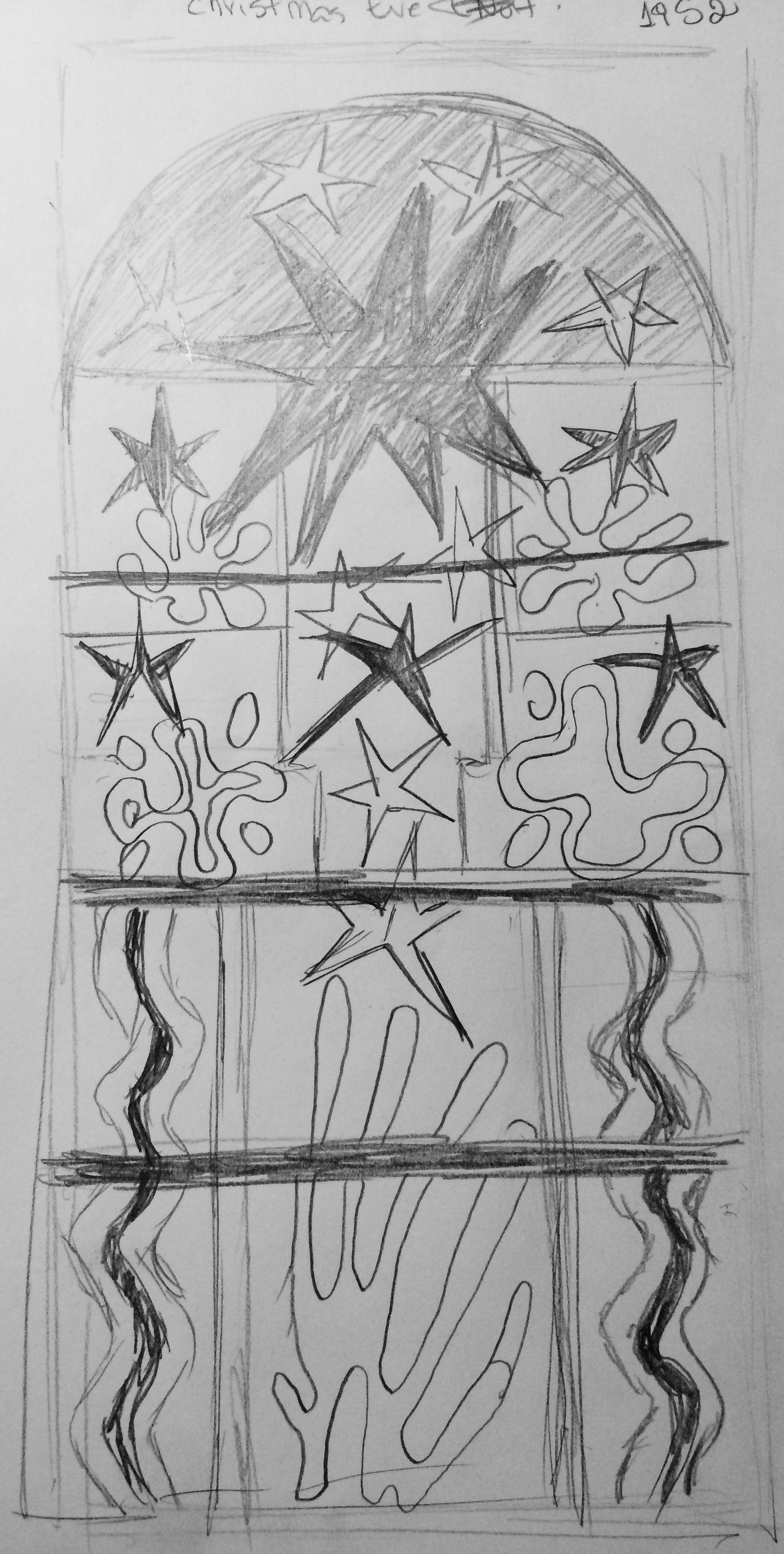 SKETCH - Matisse: Christmas Eve (Nuit de Noël) 1952 Maquette for ...