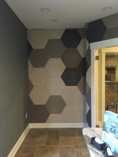 Daltile Beehive Hex 24 Large Format Hex Installed On Wall Tile