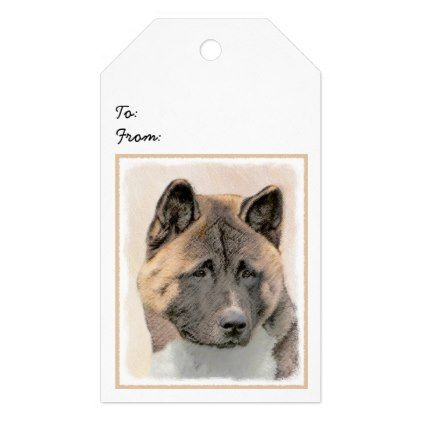 Akita Gift Tags - black gifts unique cool diy customize personalize