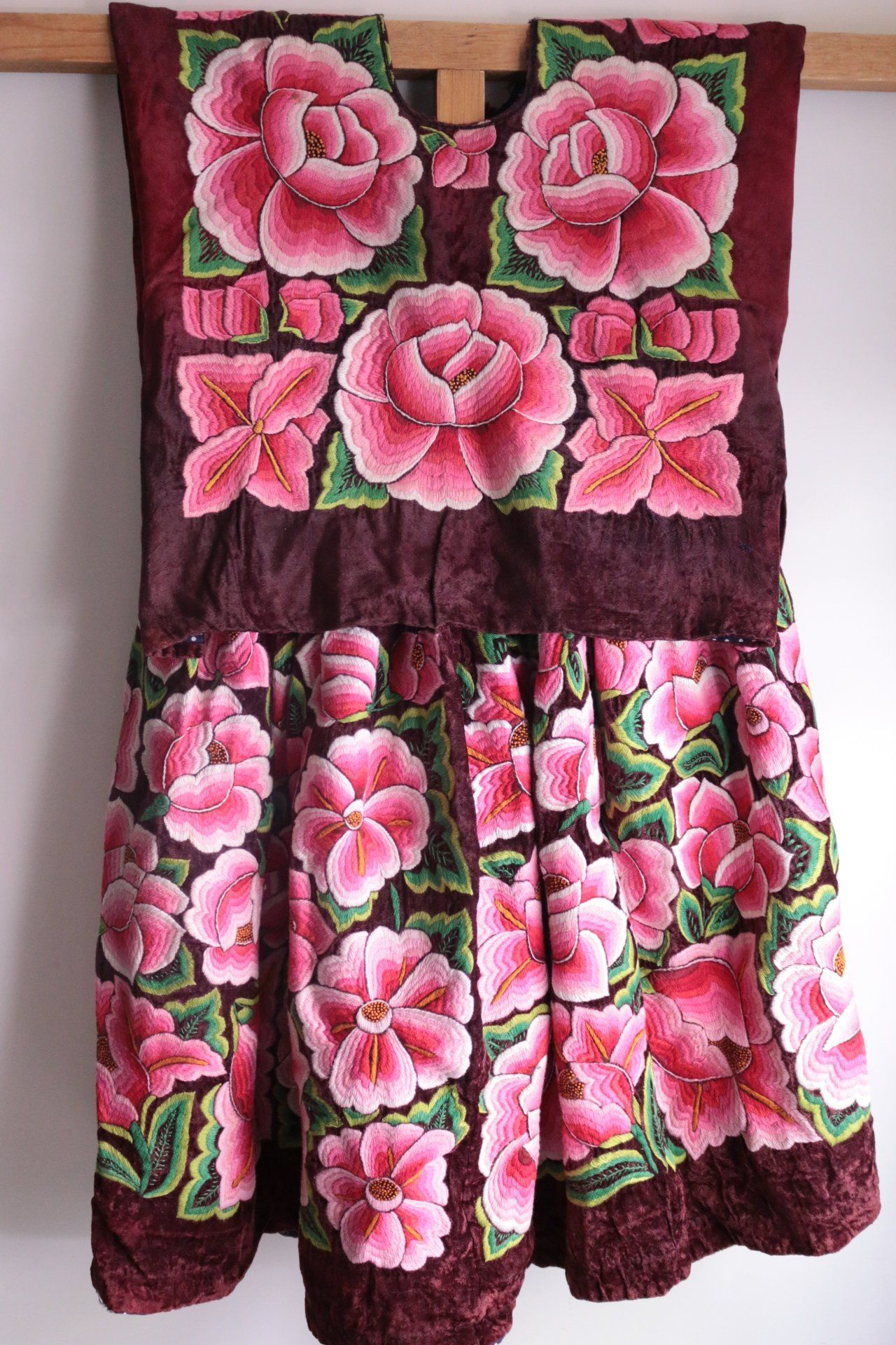 Antiguo Vestido de TEHUANA: huipil y enagua mexicano, traje regional ...