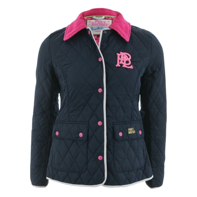 Ladies Paul's Boutique Quilted #Jacket in Navy Blue - front ... : pauls boutique quilted jacket - Adamdwight.com