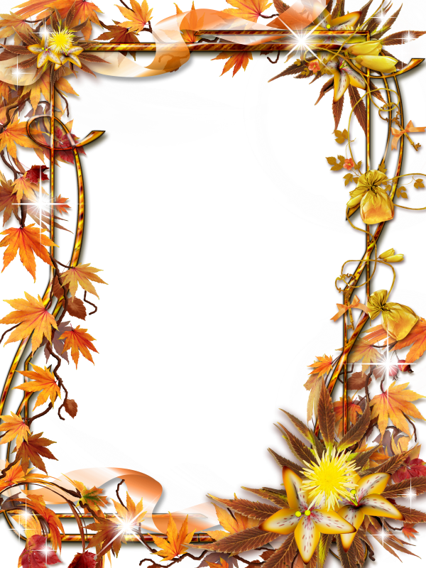 Осенняя открытка фотошоп