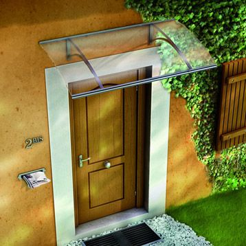 Auvent en kit Olor, structure en aluminium, 160x27x87 cm Déco
