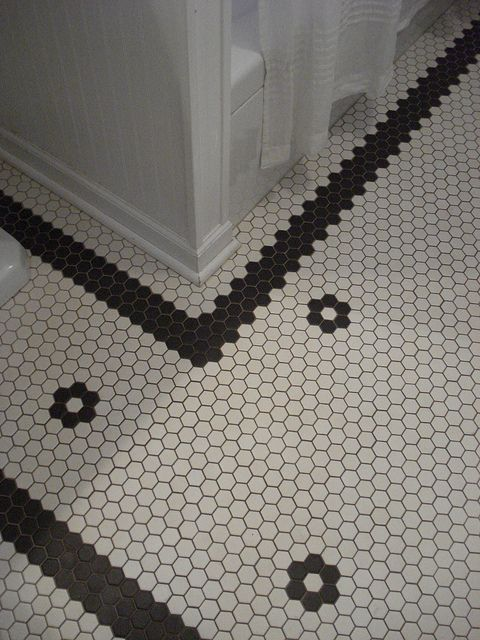 Custom Hex Tile Floor Vintage Bathroom Tile Hexagon Tile