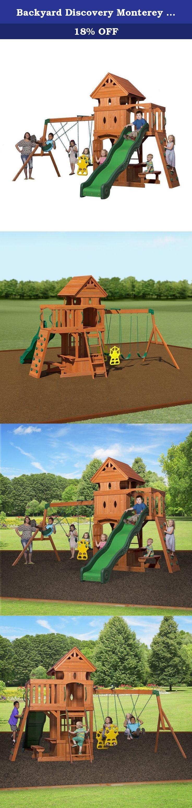 Backyard Discovery Monterey All Cedar Wood Playset Swing ...