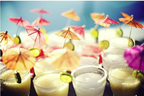 drink umbrellas - use for signature/welcome cocktail and/or escort card table