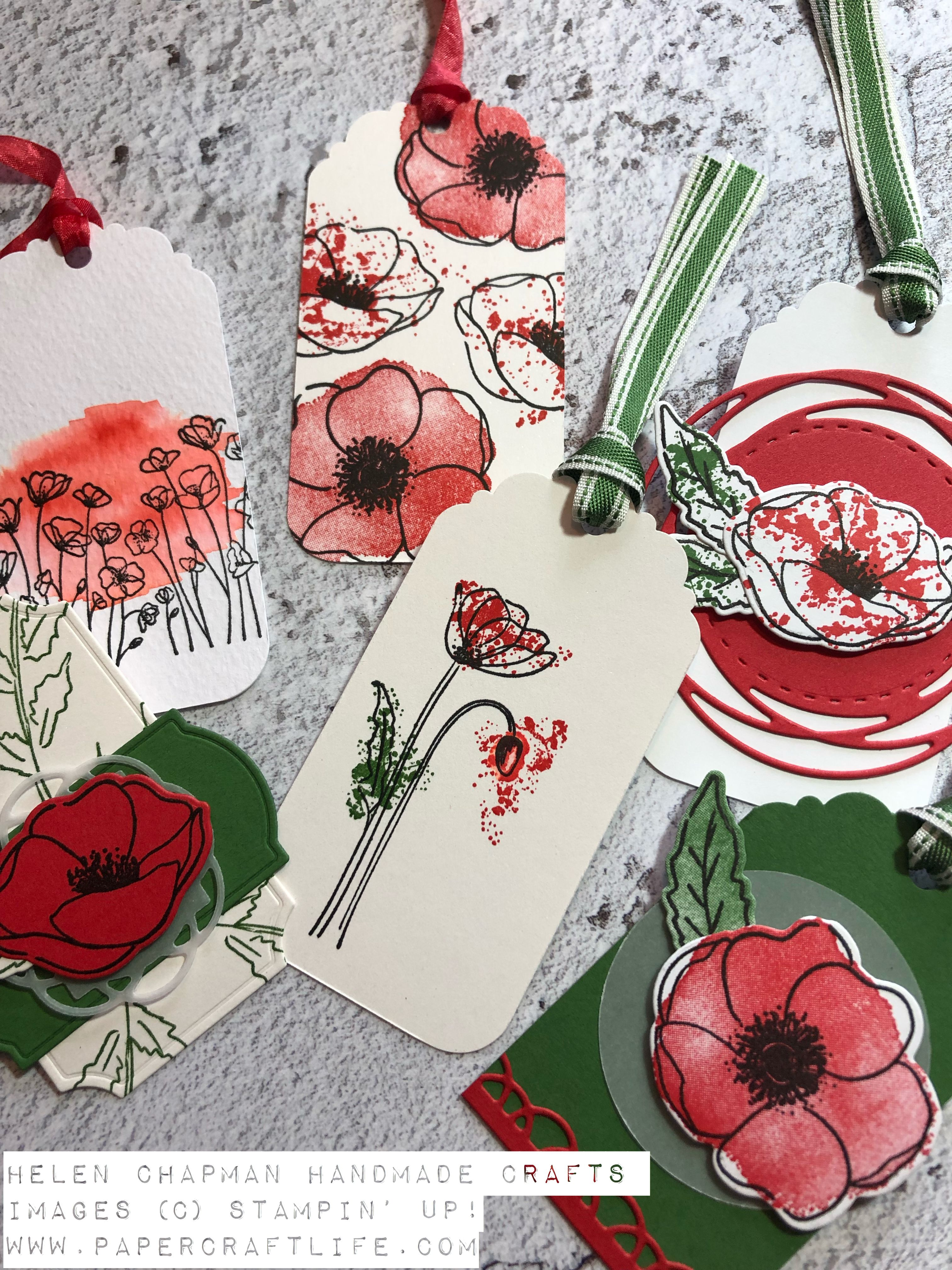 Painted Poppies Gift Tags