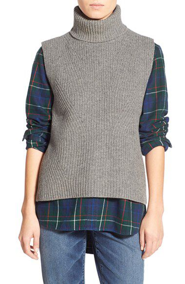Madewell Madewell 'Felix' Sleeveless Wool Layering Sweater available at #Nordstrom