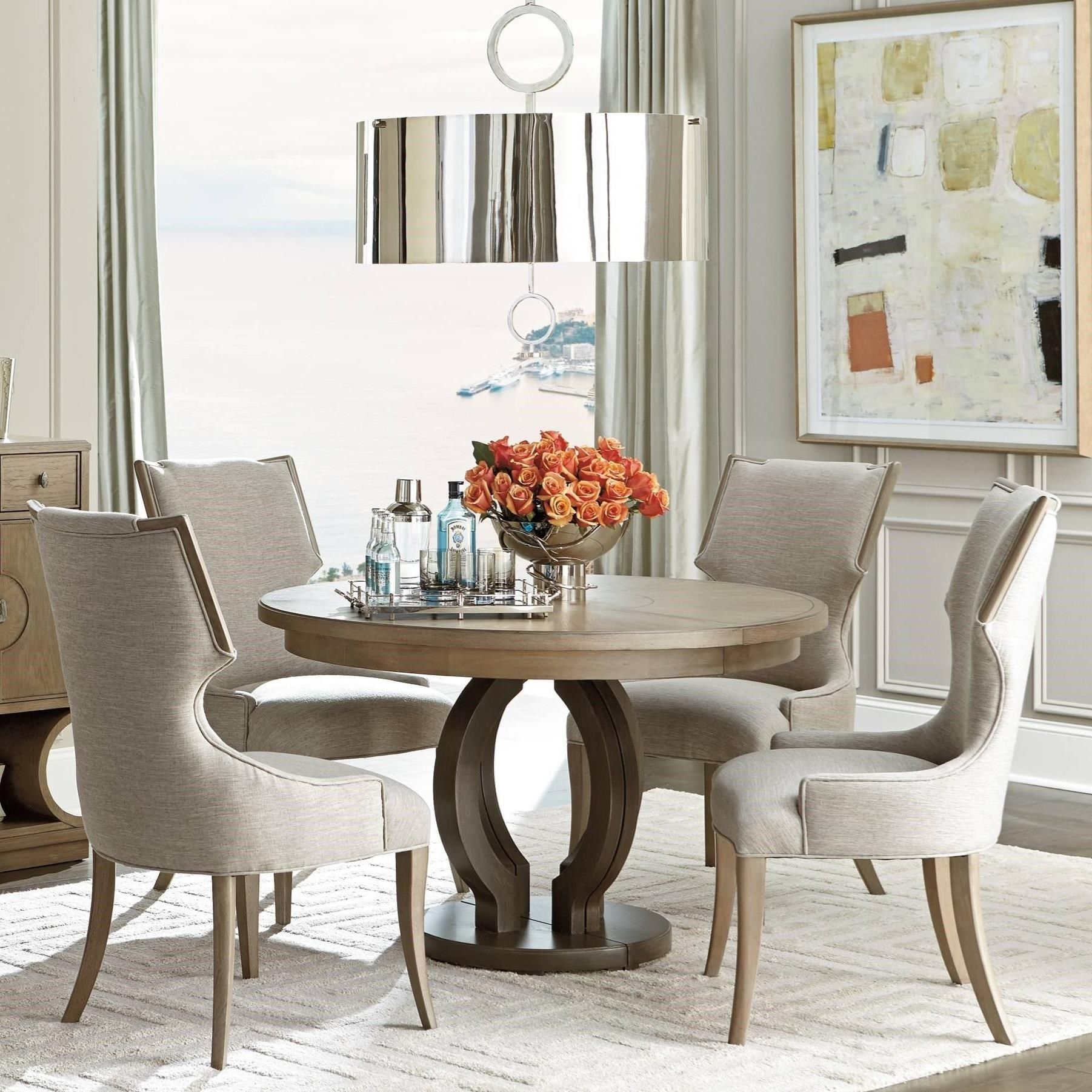 Virage 5 Piece Round Dining Table Set By Stanley Furniture Round Dining Table Sets Round Wood Dining Table Round Dining Table