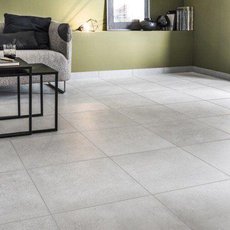 Carrelage sol et mur gris effet béton Liverpool l45 x L45 cm