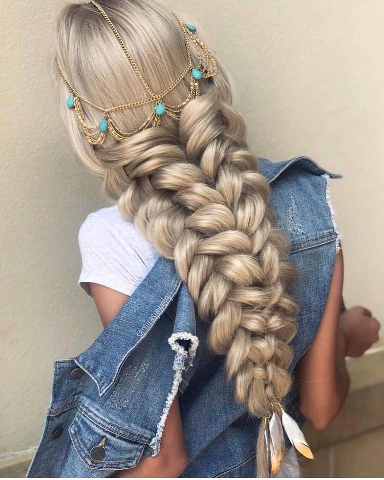 Las mejores variaciones de peinados con trenzas pelo largo Galería de cortes de pelo Ideas - 37 Peinados con Trenzas de Moda para Chicas de Cabello ...