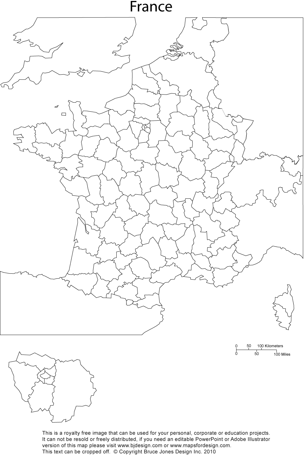 France Map, Printable, blank, royalty in 2020 (With