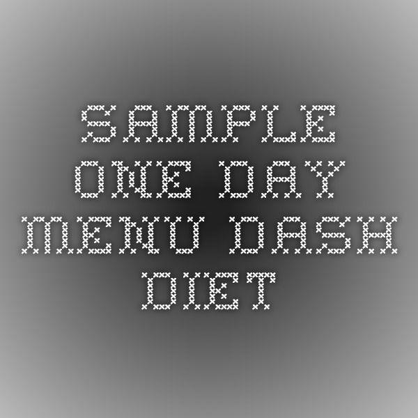 dash diet sample menu pdf