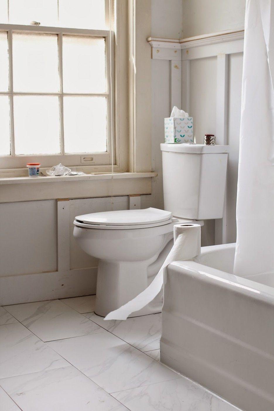 Divine Board And Batten Bathroom Design Featuring White Wooden ...