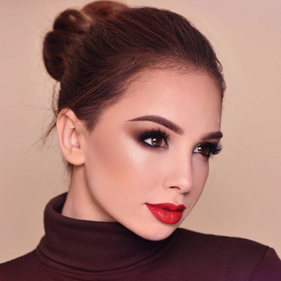 Holiday Inspiration Red Lips And Soft Smokey Eye Red Lip Makeup