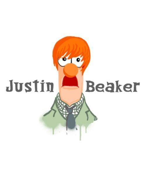 Justin beaker makes me lol funny funny puns hilarious - Beaker muppets quotes ...