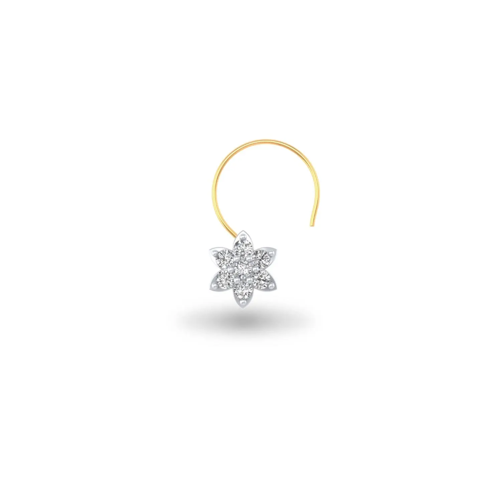 Diamond Nosepin Little Star Nose Pin Jewelry Design Necklace Star Shape Bling