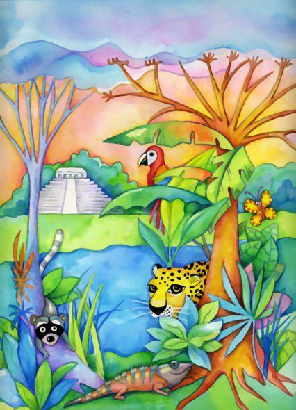 Ilustraciones Infantiles Ines Huni Ines Huni Selva Dibujo Selva