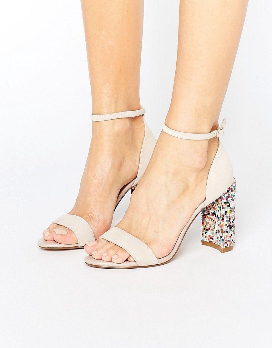 cec2b2da47 Dune London Millions MULTICOLOR Block Heeled Sandals in 2019   Shoes ...