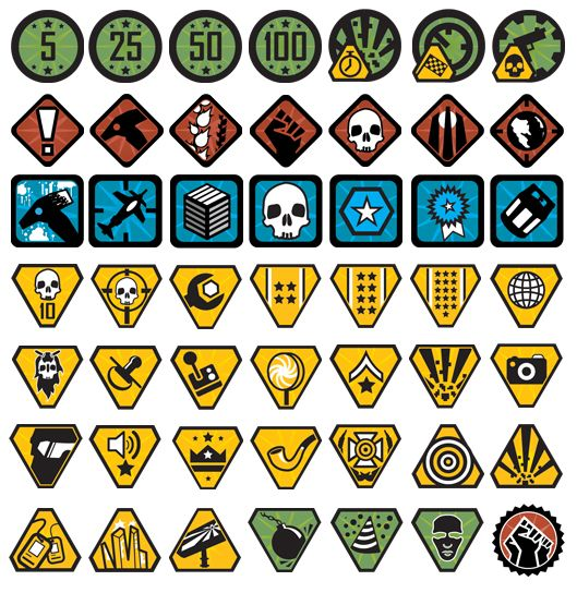 red faction guerrilla achievement icons