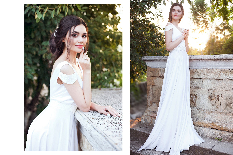 Simple Silk Wedding Dress Modest Minimalist Bridal Gown Etsy Wedding Dresses Etsy Wedding Dress Dresses [ 1999 x 3000 Pixel ]