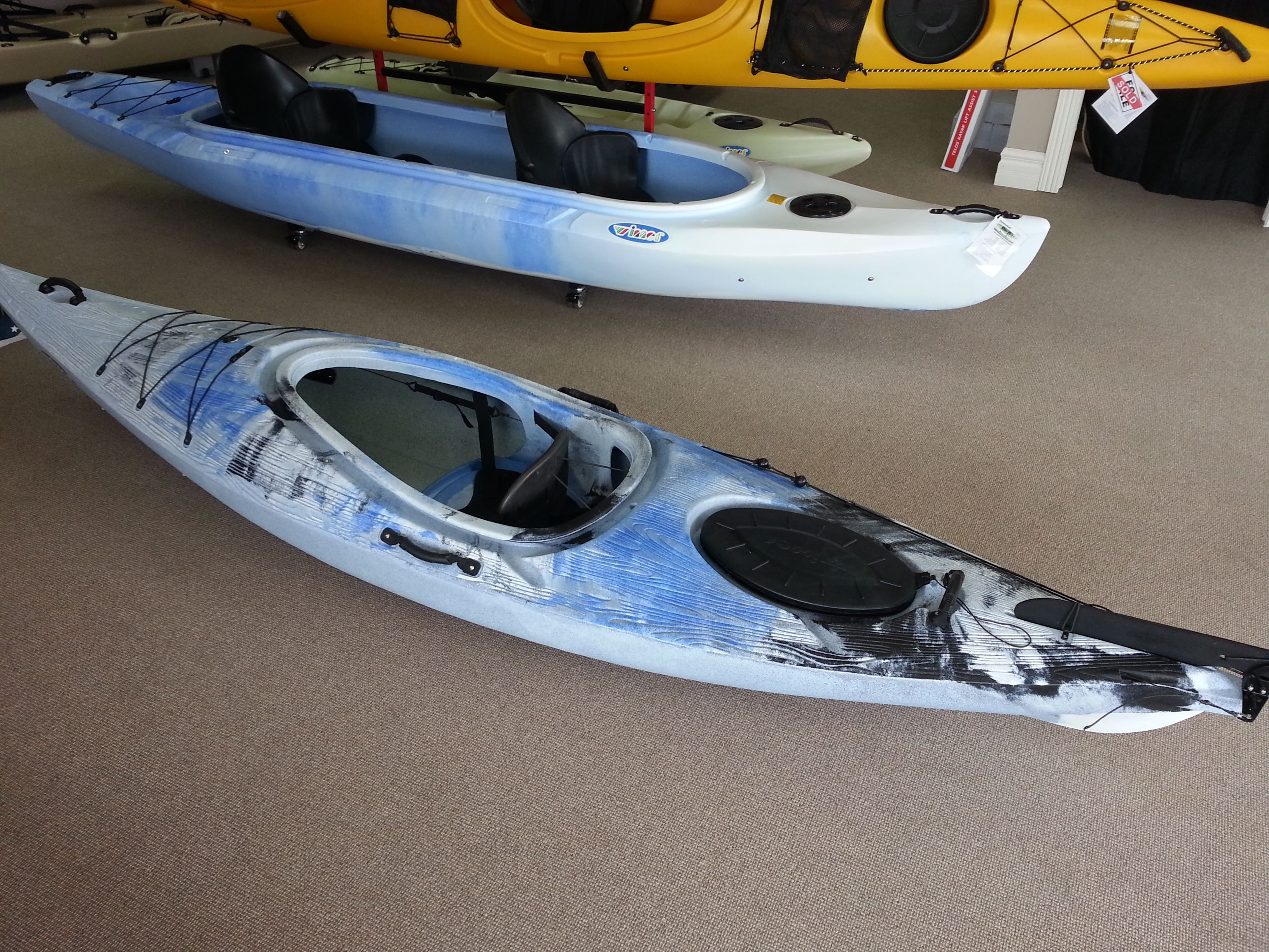 The Driftwood in Blue/white/Black blend find it at Kayak