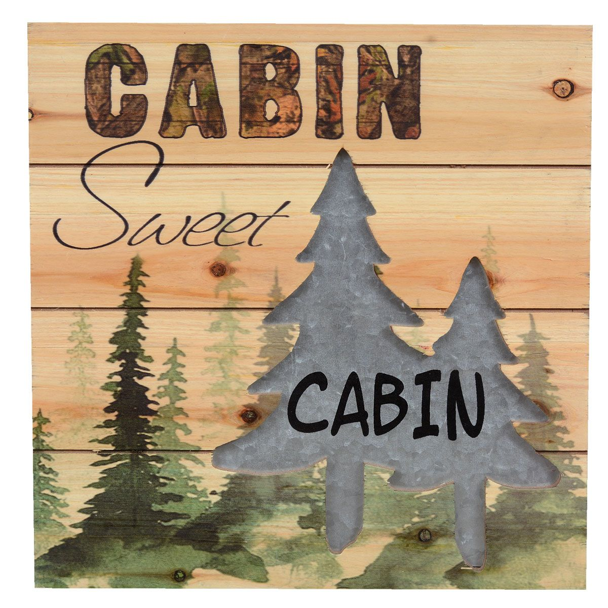 Sweet Cabin Wall Art | Metal Tree Wall Art | Pinterest | Cabin, Pine ...