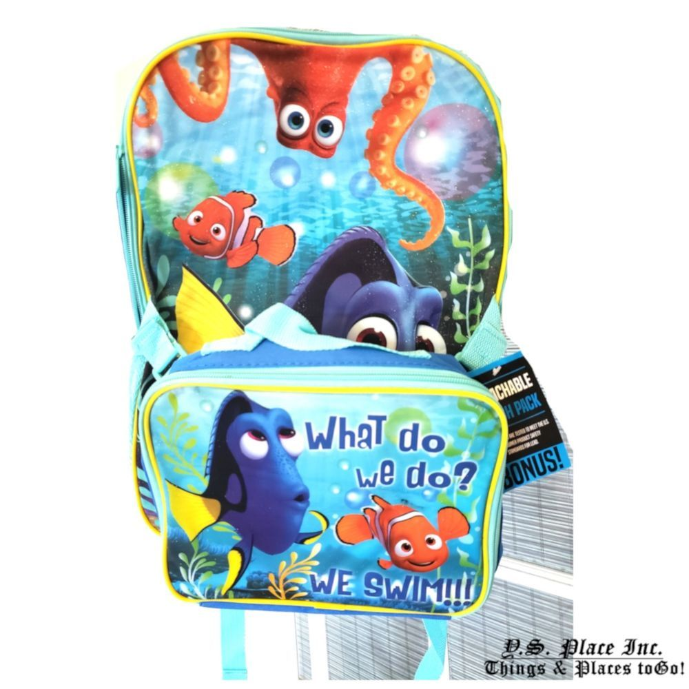 abc1a8662b6 Finding Nemo Boy s Kids Backpack and Lunch Tote  GlobalDesignConcepts   BackpackLunchBoxTote