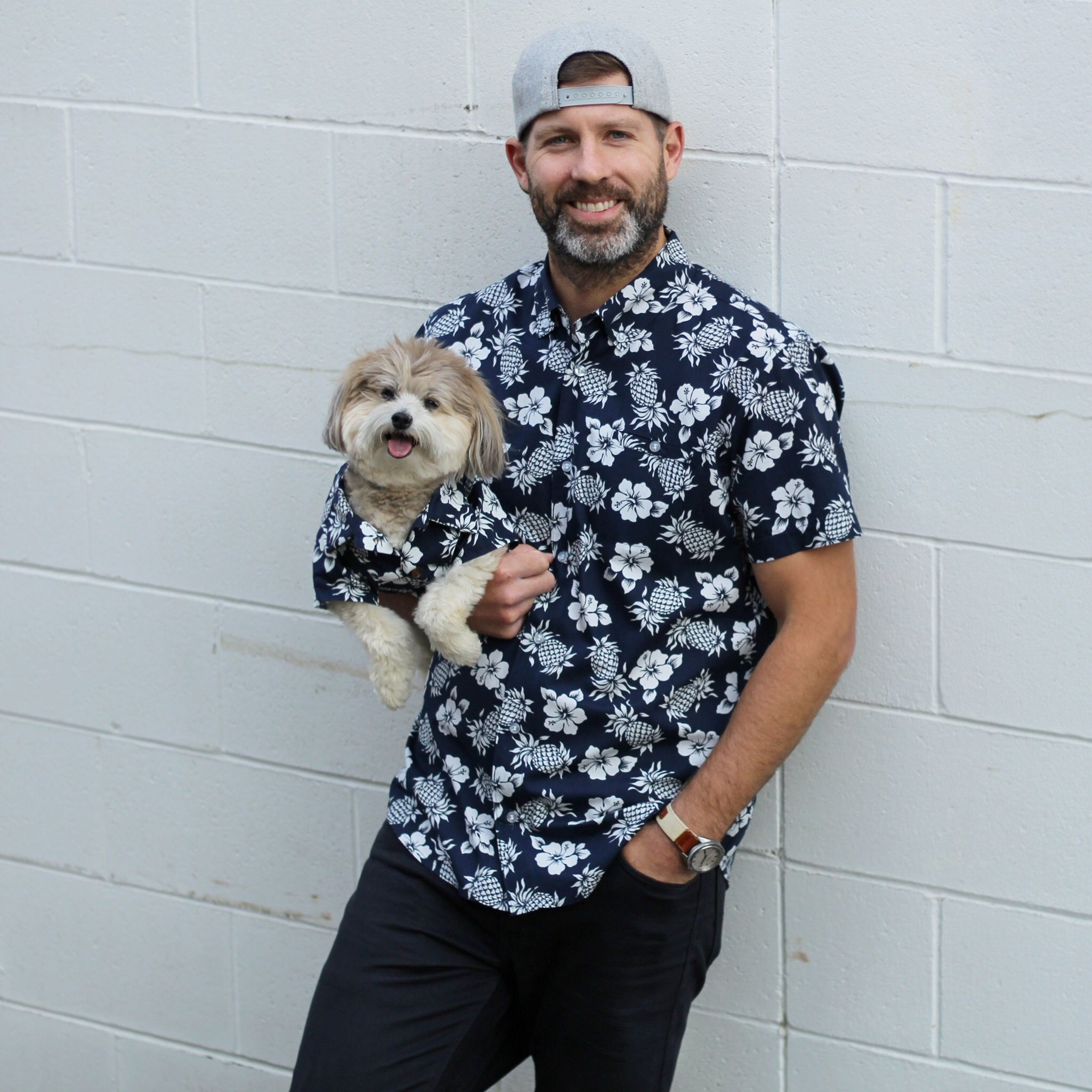 Mens Dog and Owner Matching T-Shirts Outfits