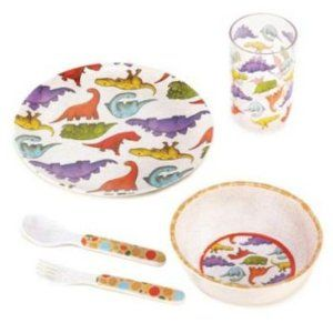Dinosaur Kids Dinner Set Of 5 Plate Cup Bowl Boys By Ever 15 95 Great For Your Child Or As A Gift Grea Kids Dinner Sets Kids Dinnerware Set Kids Dinnerware
